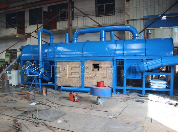 Carbonization furnace of sugarcan charcoal making machine