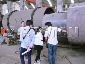 Tunisian Customers are Visting our sludge treatment machine