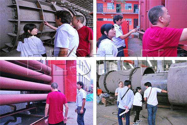 Tunisian customers came to China to visit Beston biomass carbonization machine