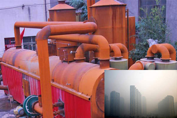 The carbonization machine helps in reducing straw burning and easing the haze weather