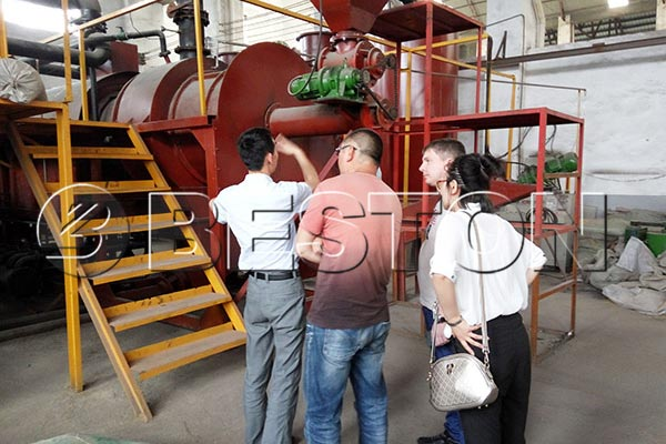 Russian Customer were visiting Beston biomass pyrolysis plant