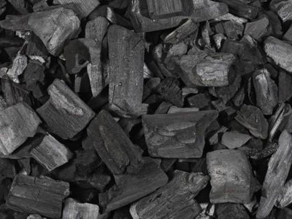 Charcoal from wood