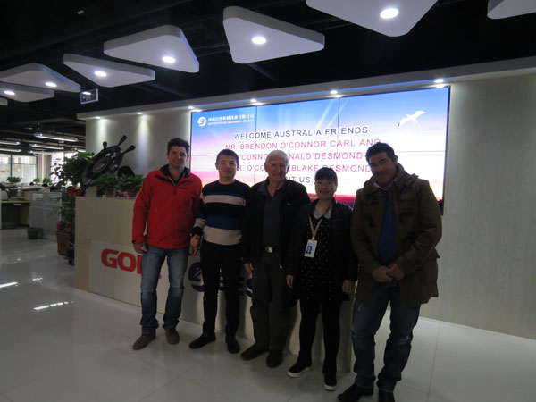 Australian Clients Came to China for Visiting
