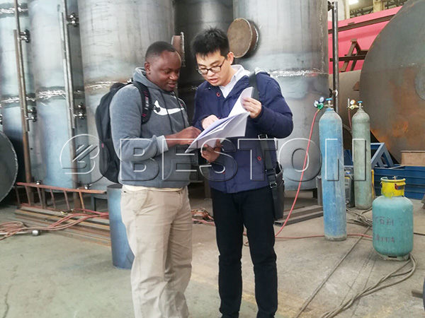 Kenyan Customers Come to Visit Beston Biochar Machine
